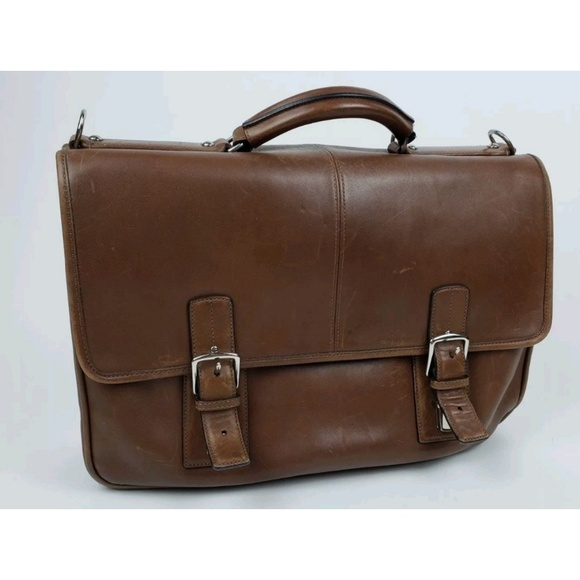 a9ea810967 Coach Thompson Executive Brown Briefcase F06455